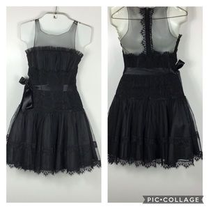 Jessica McClintock | Lace & Tulle Black Dress~S